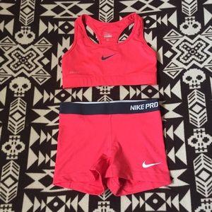 Nike Pro Dri-Fit Sports Bra & Shorts Matching Set